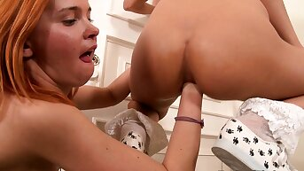 Redhead schoolgirl fisting teen ass be advisable for the first time