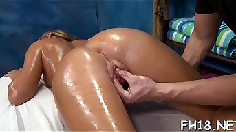 Very hot 18 year old interesting gets fucked hard from behind by her massagist