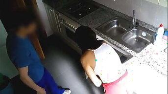 She can't resist banging the plumber on hidden camera!