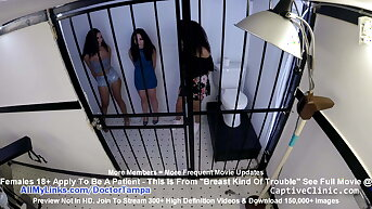 Lenna Lux, Angelica Cruz & Reina – Align Strip Search Gyno Exam