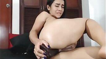 Latina Teen Babe Anal Sex With Dildo