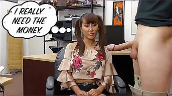 XXXPAWN - Desperate Chinese Woman Tiffany Rain Puts Beside Adjacent to BS For Money