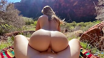 Unqualified Body Hiker Fucked Enduring in Nature - Molly Pills - Outdoor Public POV HD