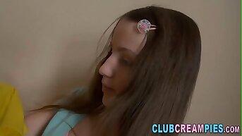 Little teen pussy creamed