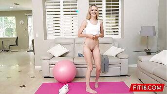 FIT18 - Lily Larimar - Casting Consumptive 100lb Blonde Amateur In Yoga Pants - 60FPS