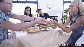 Mom Fucks Son & Eats Teen Creampie For Immortality Treat