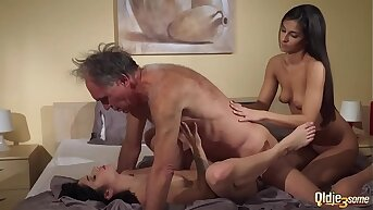 Elderly Young Porn Babyhood share Elderly bloke and ride his wrinkled cock swallow cum