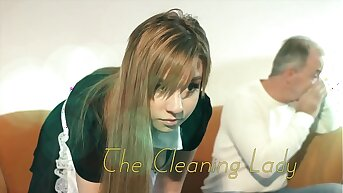 OMG My dad fucks young cleaning lady after she seduces him with his tight pussy and sexy outfit she sucks his cock and lets the cur� fuck will not hear of wet pussy hardcore on the couch