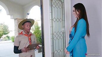 Super Hot Mature Ariella Ferrera takes Young Small fry on his Safari Fantasy