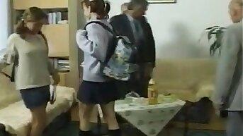 Grandad's Fuck Euro Teen's Anal Rimming