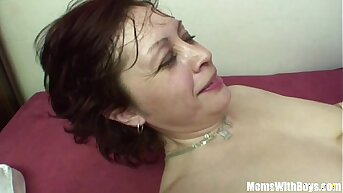 Stepson Having An Bet With His Redhead Stepmom