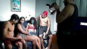 Bastidores da gravação com Bela India Prime e a novinha Ana Clara Bintencourt em sua primeira vez com outra mulher - Leo Ogro - Nego black20cm - Jorge Marreta - AntonyVtt